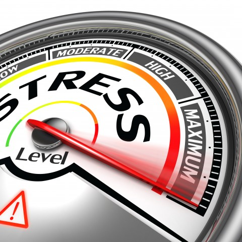 A stress-o-meter at maximum level