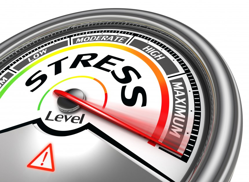 Stress at work – how it can affect you A stress-o-meter at maximum level